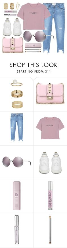 """""""Purple"""" by smartbuyglasses-uk ❤ liked on Polyvore featuring Miss Selfridge, Valentino, MANGO, WithChic, Versace, Golden Goose, Urban Decay, Chantecaille, Laura Mercier and purple"""