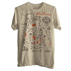 Game of Thrones - Westeros Map Tee. Want.