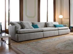Canapé d'angle / contemporain / tissu / en cuir PARAMOUNT by Frighetto Workshop ESTEL