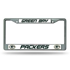 Green Bay Packers NFL Chrome License Plate Frame