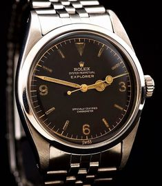 A timepiece worthy of any (Vintage Rolex Explorer) Rolex Vintage, Vintage Watches, Dream Watches, Sport Watches, Luxury Watches, Amazing Watches, Cool Watches, Watches For Men, Beautiful Watches