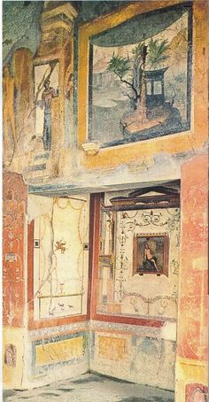 golden, peachy, and rich! Ancient Pompeii, Pompeii And Herculaneum, Ancient Ruins, Ancient Artifacts, Ancient History, Roman History, Art History, Fresco, Pompeii Italy