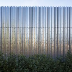The steel cell structure has been covered with a series of impressive customized perforate...