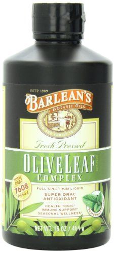 Barlean's Organic Oils Olive Leaf Complex Immune Support Liquid, 16 Ounce Super ORAC antioxidant Fresh picked and fresh pressed Health tonic Vitamins For Depression, Natural Supplements For Depression, Immune System Boosters Natural, Herbal Remedies For Anxiety, Holistic Remedies, Health Tonic, Women's Health, Health Care, Amino Acid Supplements