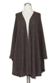 Alpaca blend wrap, 'Brown Tweed' NOVICA. $69.99