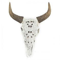 By-Boo Ox Skull 'Art' kleur wit