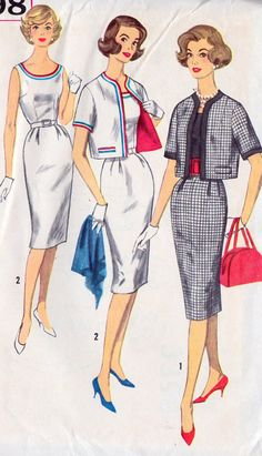 1960s+Misses+Sheath+Dress+and+Jacket+Vintage+by+MissBettysAttic,+$10.00