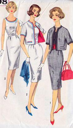 1960s+Misses+Sheath+Dress+and+Jacket+Vintage+by+MissBettysAttic,+$10.00