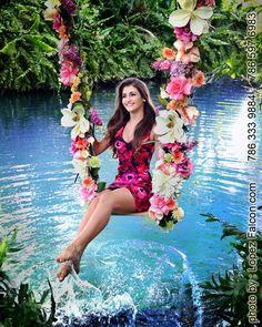 53f8460f08c Secret Gardens Quinceanera on swing Miami quinces Quinceanera Photography