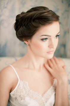 Natural bridal makeup | Anastasiya Belik Photography | http://burnettsboards.com/2013/12/powder-blue-white-wedding/