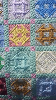 charity quilt, assembled and quilted by Susan Lawson