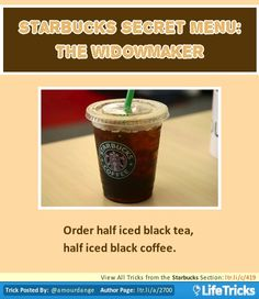 Starbucks Secret Menu: The Widowmaker