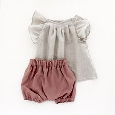 Smoky Pink Linen Summer Bloomers Girls Bloomers от moonroomkids