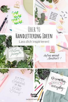Entdecke über 90 Handlettering Ideen und lass dich inspirieren. Mit dabei sind tolle Brushlettering Ideen, Handlettering Ideen, DIY Ideen mit Lettering und Ideen für Lettering mit Watercolor. #handlettering #lettering #inspirationen #diy #brushlettering Creative, Inspiration, Education, Pencil And Paper, Writing, Modern Decoration, Amazing Gifts, Biblical Inspiration, Educational Illustrations