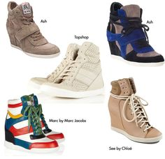 Wedge sneakers.  Rivaling 'sandal boots' for the worst shoe idea ever.