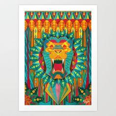 Lion Art Print by UvinArt - $20.00