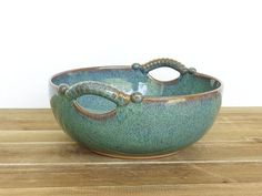 Sea Mist Stoneware Pottery Ceramic Serving Bowl door dorothydomingo