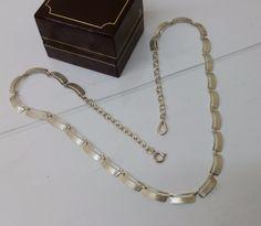 Vintage Halsschmuck - Antike Halskette 60iger 835 Silbercollier HK119 - ein…