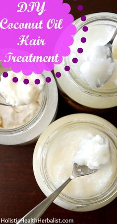 Calling all Ladies with curly or coarse hair....I LOVE this! ~Katie www.livinghappilywhole.com  DIY Coconut Oil Hair Treatment