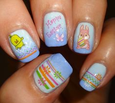 Wendy's Delights: Sparkly Nails Easter Fun Water Decals @Slim Blondie-Nails.co.uk
