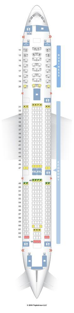 SeatGuru Seat Map Hainan Airlines Airbus A330-300 (333)
