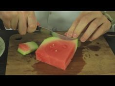 Avoid a Mess While Eating Watermelon With Two Strategic Cuts  Not exactly a recipe, but doable!
