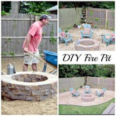 DIY Fire Pit ... I miss this ... I so want to do this this weekend!