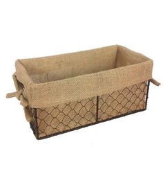Shop Organizing Essentials 11x6 Wire Basket with Burlap Liner & Baskets & Basket Accessories at Joann.com
