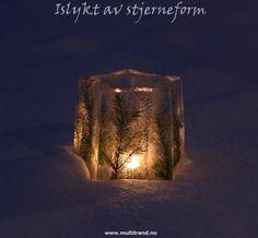 Islykt med granbar. Stjerneform kan kjøpes her http://www.multitrend.no/Islykt--NICE-islyktform/cat-c/c1000086 #islykt #icelantern