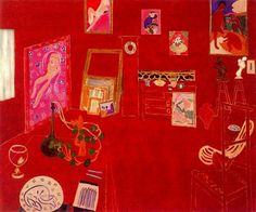 "Henri Matisse ""The Red Studio"" 1911 Oil on canvas 181 x 219,1 cm."