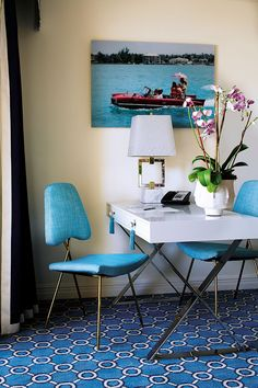 The Eau Palm Beach By Jonathan Adler Turquoise Chair, House Of Turquoise,  Palm Beach