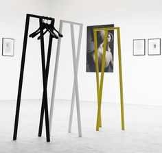 Loop Wardrobe by Leif Jorgensen.  Prominent Danish designer.  Also see his Chairs - bright colorful shapes.  His primary focus is retail concept design for the fashion industry. http://leifjorgensen.com/