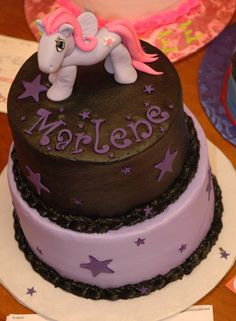 The 'My Little Pony' is a little odd, but love the cake itself.