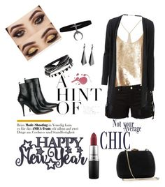 """""""New years eve"""" by shazz007 ❤ liked on Polyvore featuring Amapô, TIBI, Valentino, Allude, Serpui and MAC Cosmetics"""