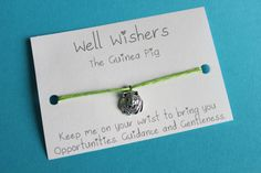 ♥ The message on the card is inspired by the charm and what it symbolises. For example : The Guinea Pig Bracelet - Keep me on your wrist you bring you Opportunities, Guidance and Gentleness. Cute Guinea Pigs, Gentleness, Travel Gifts, Friendship Bracelets, Opportunity, Wish, Insects, My Etsy Shop, Place Card Holders