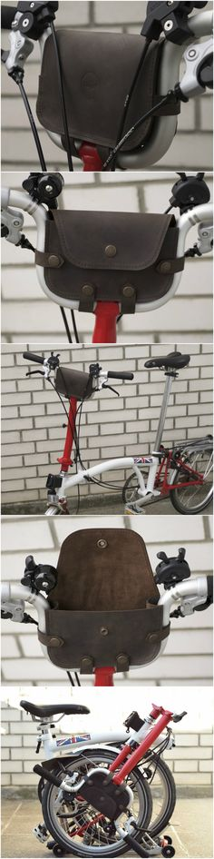 Handlebar bag for Brompton is allowing you to move your everyday essentials (phone, wallet, keys etc.) from your pockets to this bag. 69$