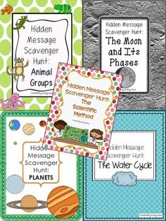 All 5 of my SCIENCE Hidden Message Scavenger Hunts at 50% off!