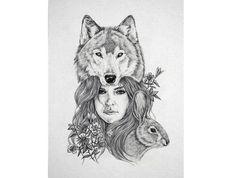 Ophelia+A4+Digital+Art+Print