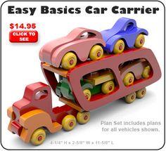 Easy Basics Car Carrier Wood Toy Plan Set