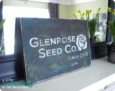Love this diy distressed sign by A little something in the meantime...