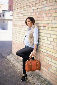 Pregnant Street Style: 35 Cool Maternity Outfit Ideas | StyleCaster#_a5y_p=1570312#_a5y_p=1570312