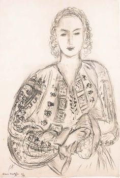 Henri Matisse - Femme à la blouse Roumaine, 1943