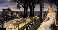 Paul Delvaux- Shadows