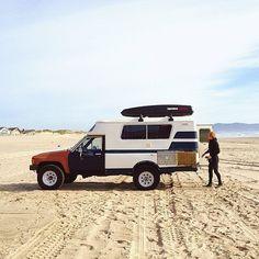 camper truck on beach