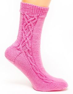 Double Cross Side Cable Socks by byhandbyjean on Etsy, $38.00