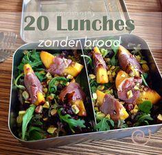 20 Lekkere lunchbox ideeën zonder brood