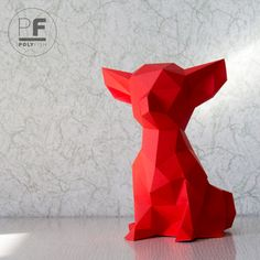 Chihuahua Dog Paper Origami Little Pocket