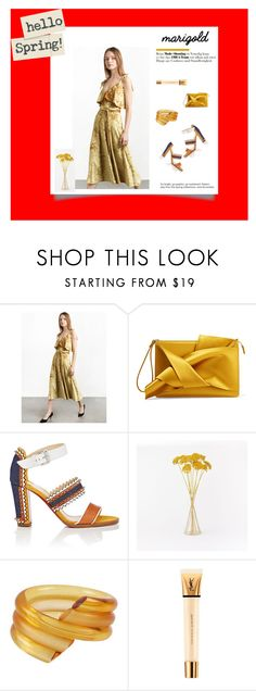 """""""Make YOU shine."""" by cheetakat12 on Polyvore featuring N°21, Christian Louboutin, West Elm, Judith Hendler, Yves Saint Laurent and marigold"""