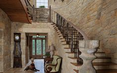 This picture proves that #naturalstone is just as beautiful on the inside of a home as it is on the outside | The Wall Street Journal #interiors
