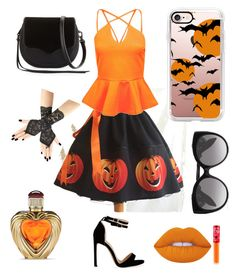 """Halloween party"" by crimson-styler333 on Polyvore featuring Boohoo, Rebecca Minkoff, Casetify, Alexander McQueen, Victoria's Secret and Lime Crime"